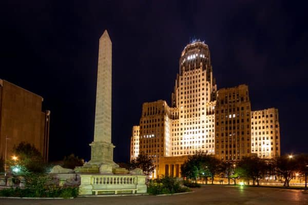Buffalo City Hall at Night