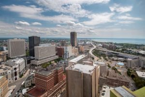 Overlooking Buffalo from the Buffalo City Hall Observation Deck