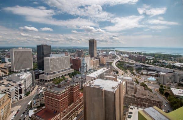 Buffalo New York from the Buffalo City Hall Observation Deck