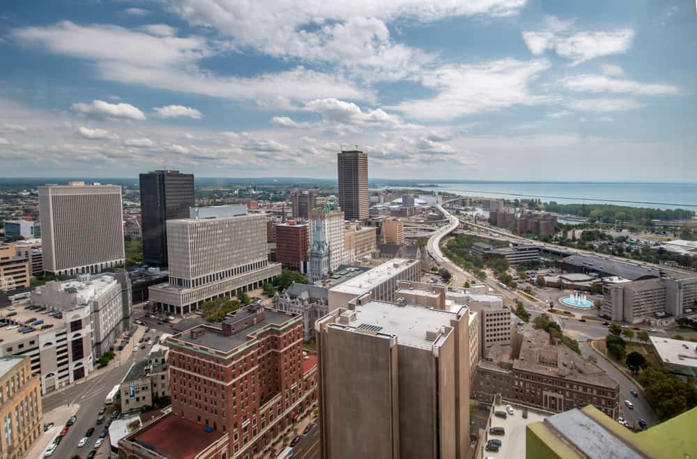 Buffalo New York from the Buffalo City Hall Observation Deck