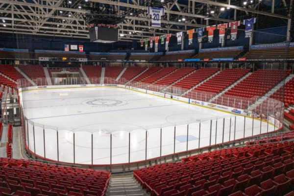 The 1980 Miracle on Ice area in Lake Placid NY