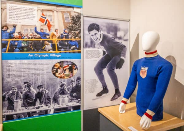 Displays inside the Lake Placid Olympic Museum in the Adirondacks of New York