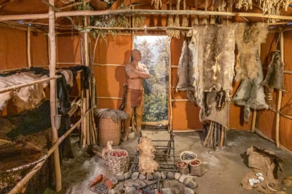 Native American diorama in Fort William Henry in Lake George New York