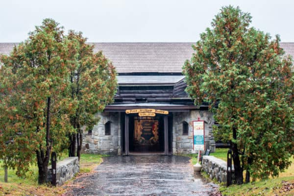The entrance to Fort William Henry in Lake George, New York.
