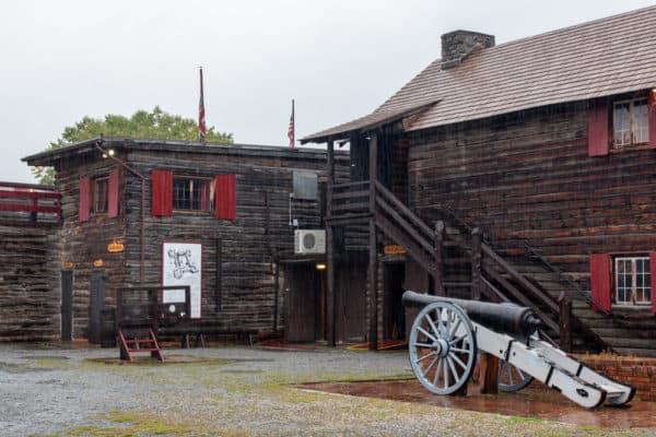 Interior of Fort William Henry in the Adirondacks