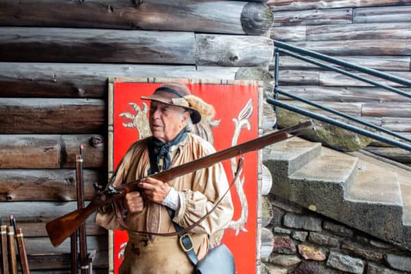 Costumed interpreter at Fort William Henry in Lake George NY