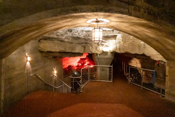 Inside Howe Caverns in Schoharie County New York