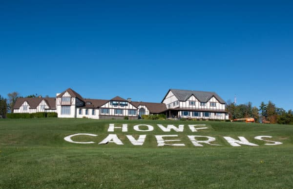 The visitor center for Howe Caverns in Central New York