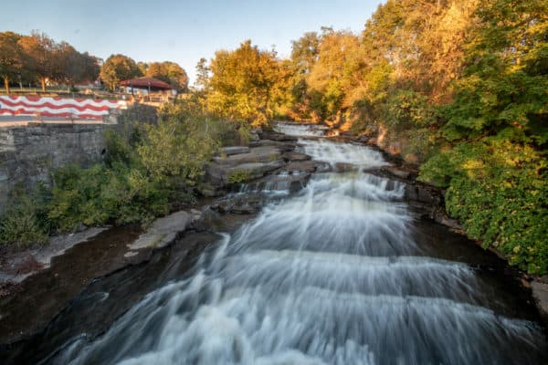 Lower Kirk Douglas Falls in Amsterdam New York