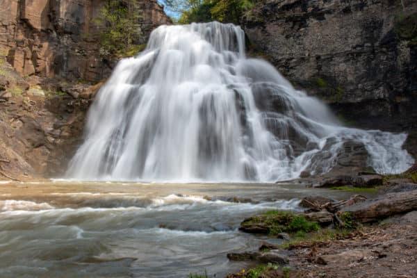 Close up of Delphi Falls in Cazenovia, NY
