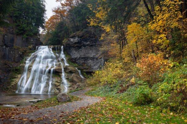 Delphi Falls in Madison County, NY
