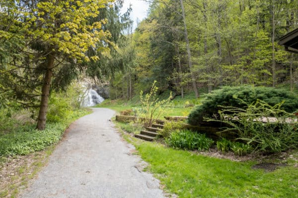 Handicapped accessible trail to Delphi Falls in New York