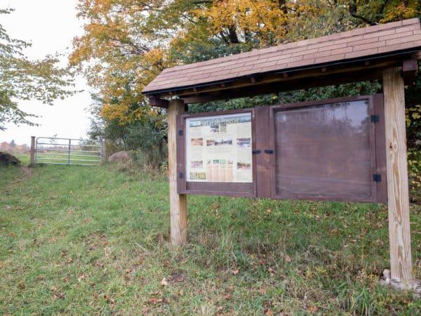 Trail to Hart's Falls Preserve near Hermon NY
