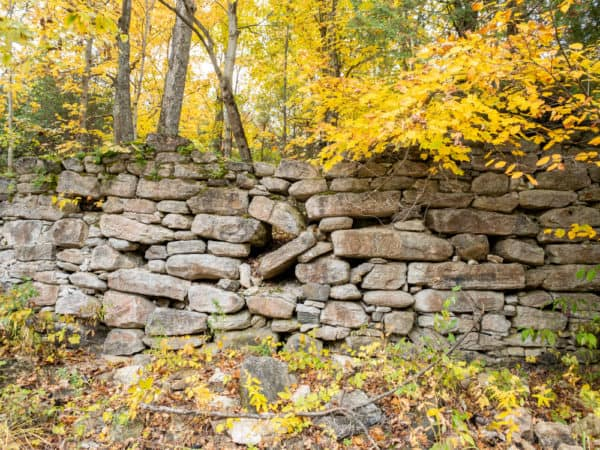 Mill ruins at Hart's Falls Preserve in the Thousand Islands of New York