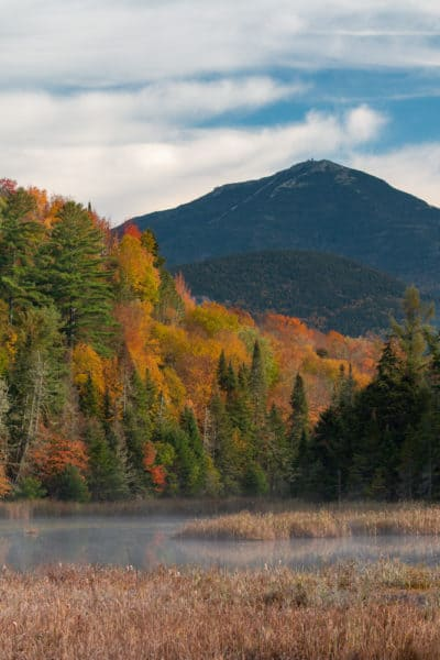 Fall in the Adirondacks with Whiteface Mountain in the background