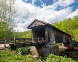 Visiting Livingston Manor Covered Bridge in Sullivan County