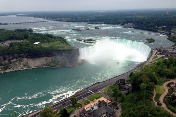 Niagara Falls from Skylon Tower in Canada