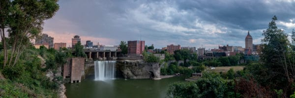 High Falls from High Falls Terrace in Rochester Ny