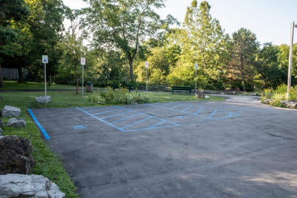 Parking at Glen Park in Erie County NY