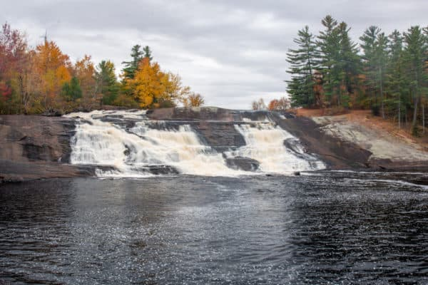 Lampson Falls from across the Grass River in St Lawrence County New York