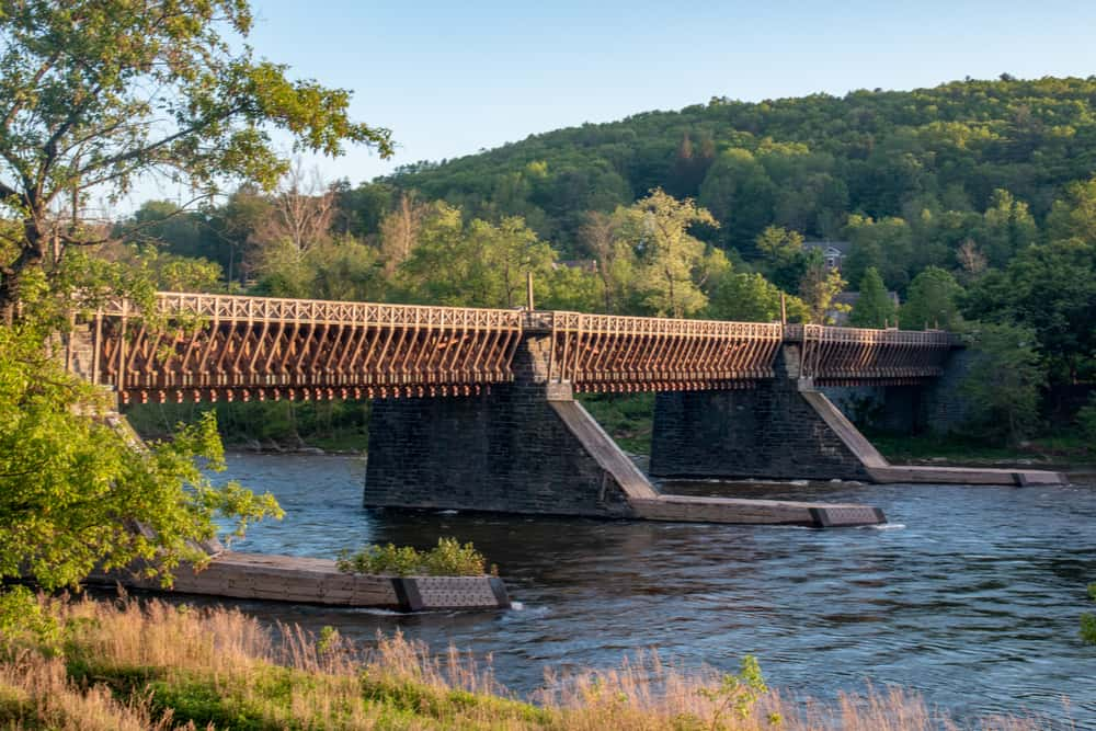 Roebling's Delaware Aqueduct in Minisink Ford New York