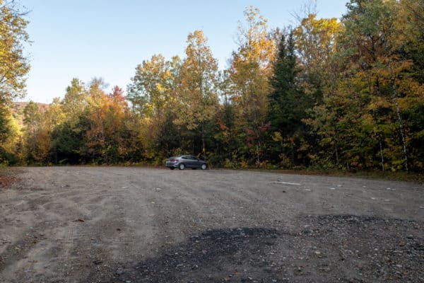 Parking for Auger Falls in the Adirondacks