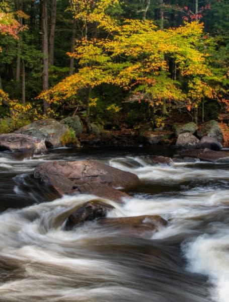 Sacandaga River scene in the fall