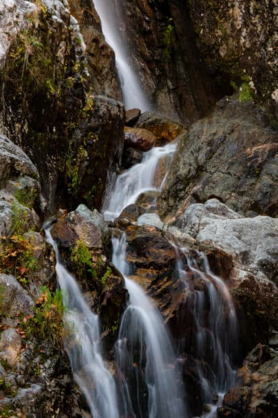 Base of Roaring Brook Falls in the Adirondacks