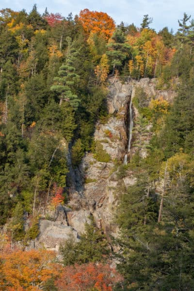 Roaring Brook Falls from the pull-off on NY-73.