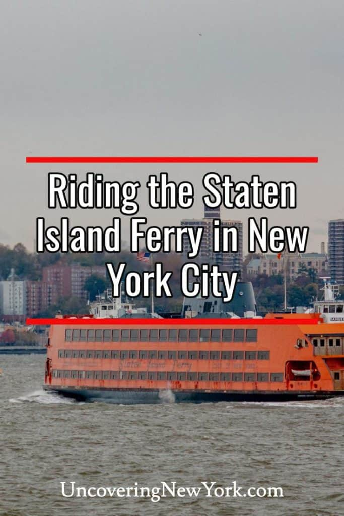 Staten Island Ferry in New York City