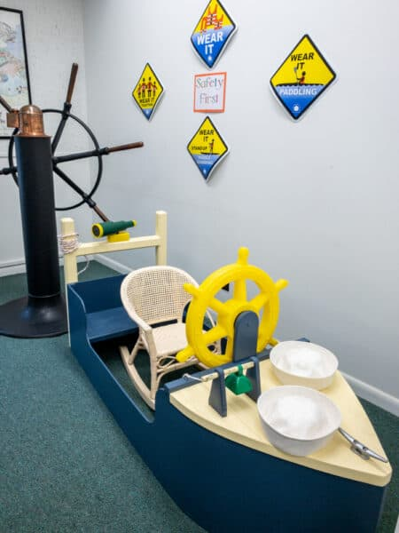 Kids area in the Finger Lakes Boating Museum