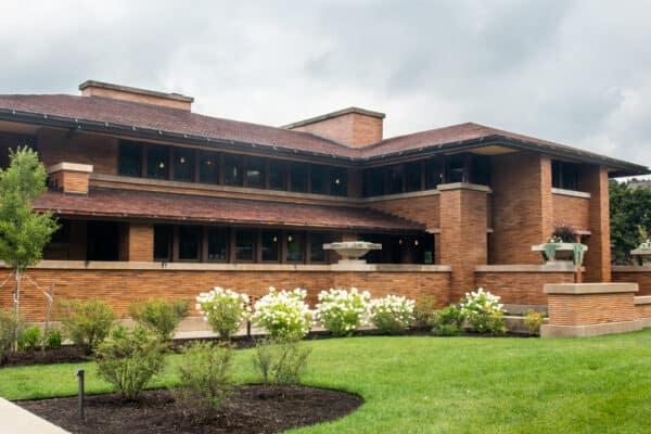 The restored Darwin Martin House in Buffalo NY