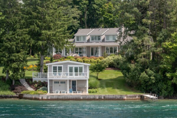 Home along the shores of Skaneateles Lake near Syracuse New York