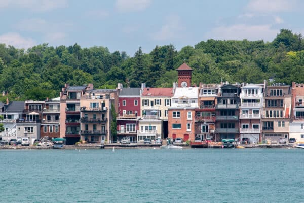 Skaneateles, New York as seen from the lake