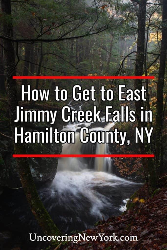 East Jimmy Creek Falls in Hamilton County New York