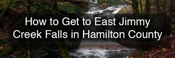 East Jimmy Creek Falls in the Adirondacks of New York