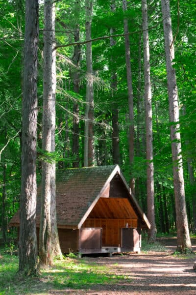 Abandoned cabin at Beechwood State Park in Sodus New York