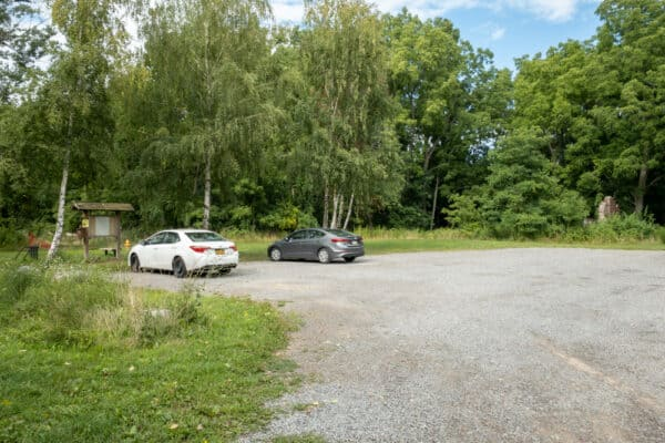 Parking area for Beechwood State Park in Sodus NY