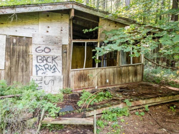 Abandoned building in Beechwood State Park in Sodus New York