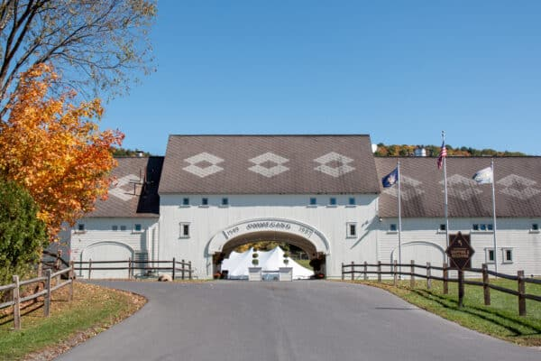 The entrance to Brewery Ommegang in Cooperstown, New York