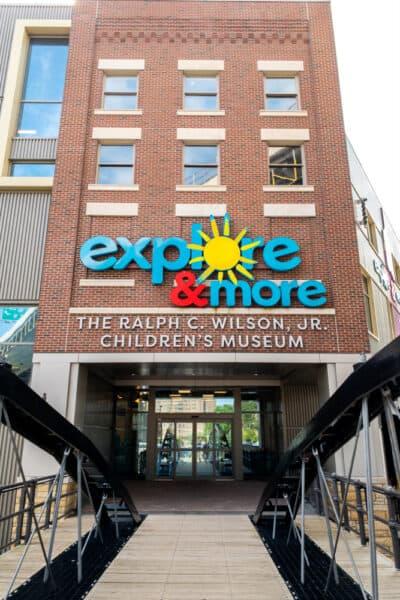 Entrance to Explore & More Buffalo Children's Museum
