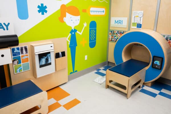 Hospital play area at Explore & More Children's Museum in Buffalo, New York