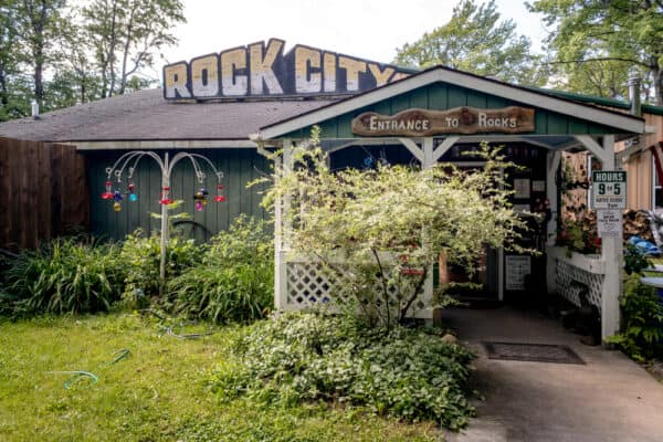 Visitor center at Rock City Park near Olean New York