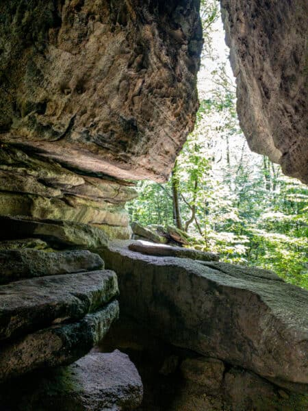 Large cave in Rock City Park in Olean NY