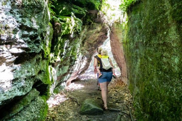 Hiking at Rock City Park in Olean New York