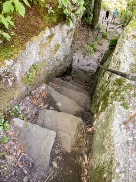 Indian Steps at Rock City Park in Cattaraugus County New York