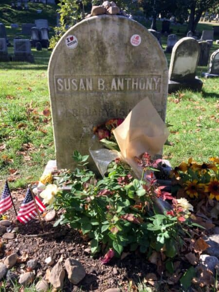 Susan B. Anthony's grave in Rochester's Mount Hope Cemetery