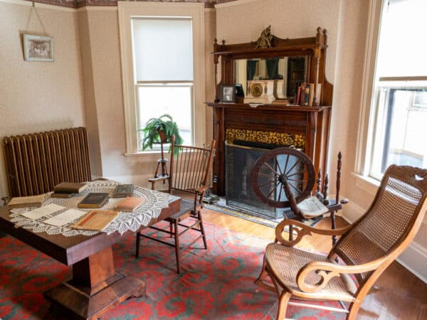 Parlor in the Susan B Anthony House in Rochester, New York