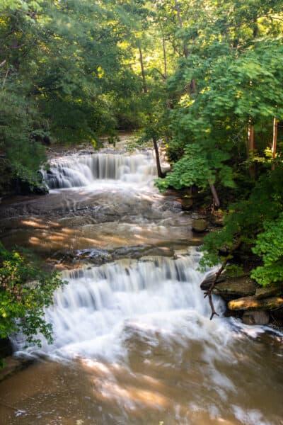 Bournes Creek Falls in Chautauqua County NY