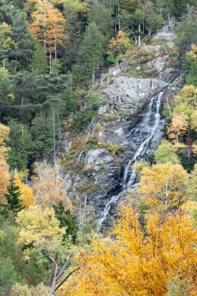 Cascade Falls is a roadside waterfalls in New York Adirondacks